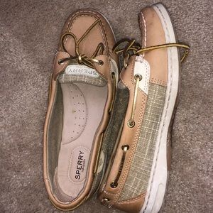 Brown leather Sperry